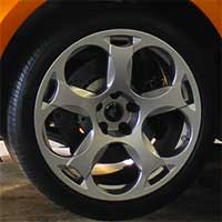 close up of a typical vehicle tyre fitted to a alloy wheel rim
